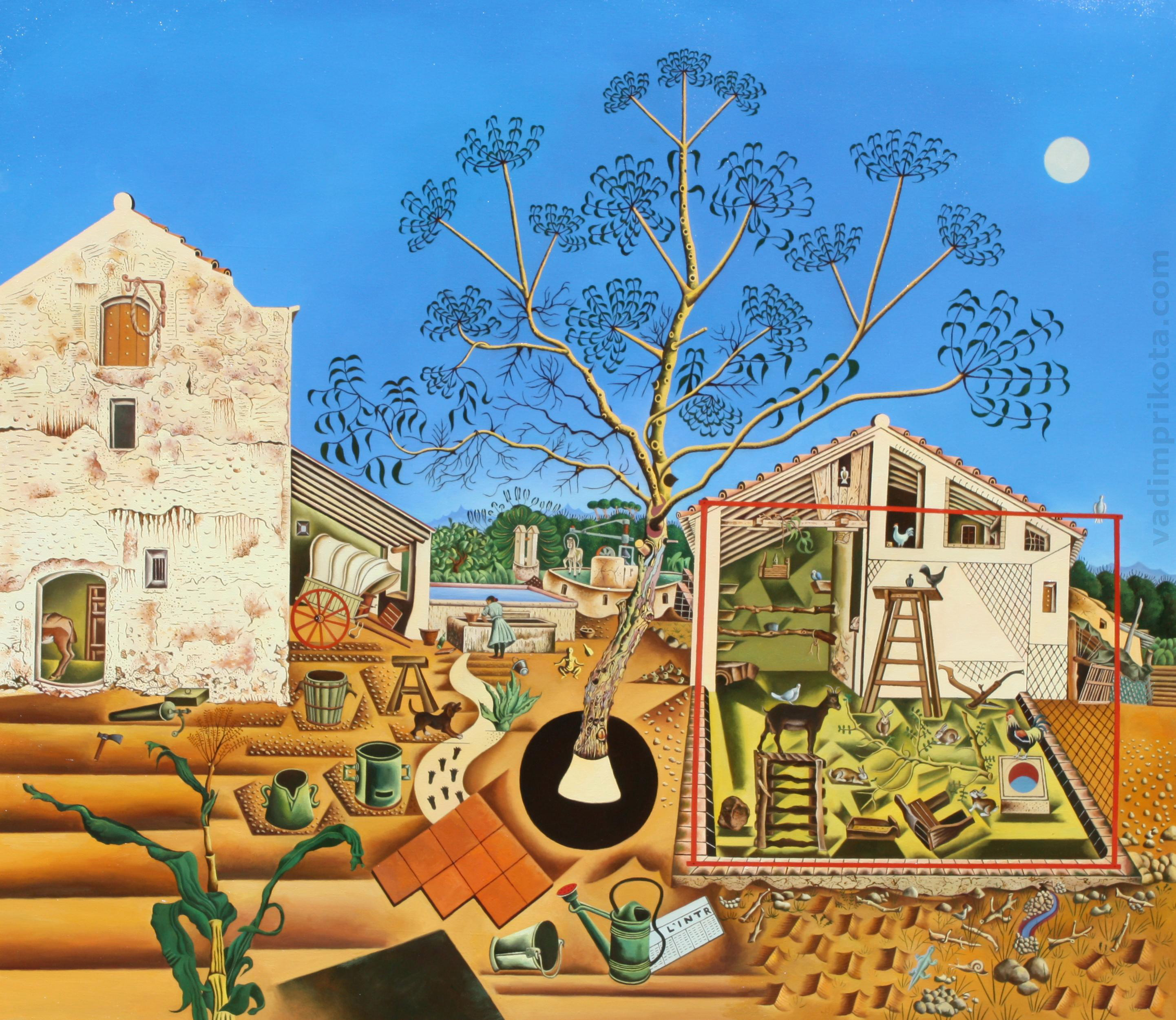 Joan Miro The Farm Oil on canvas